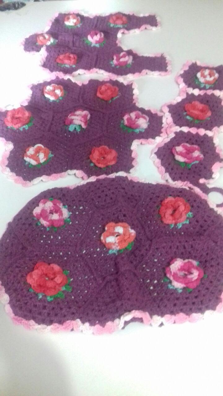 Jogos de Banheiro de Crochê