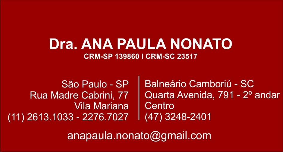 Clínica Psiquiátrica Apnonato - (47) 3248-2401 - Psiquiatria - Psicologia - Especialista em Dependência Química - Dra Ana Paula Nonato - Balneário Camboriú - SC