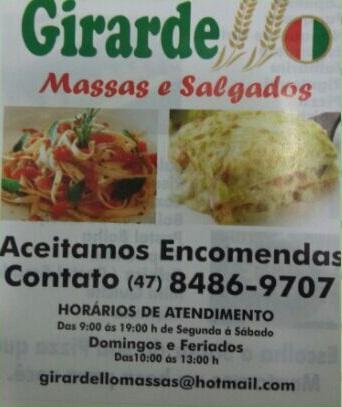 Girardello Massas e Salgados - Balneário Camboriú-SC- (47)98486-9707